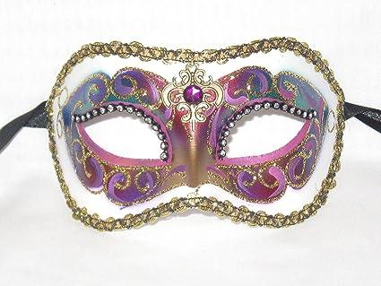 Black Brand New Colombina Festa Venetian Mask