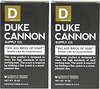 product image for Duke Cannon Supply Co. - Big Ass Brick of Soap, Smells Like Accomplishment (2 Pack of 10 oz) Superior Grade Masculine Scent Bar Soap Designed for Hardworking Men - Bergamot and Black Pepper
