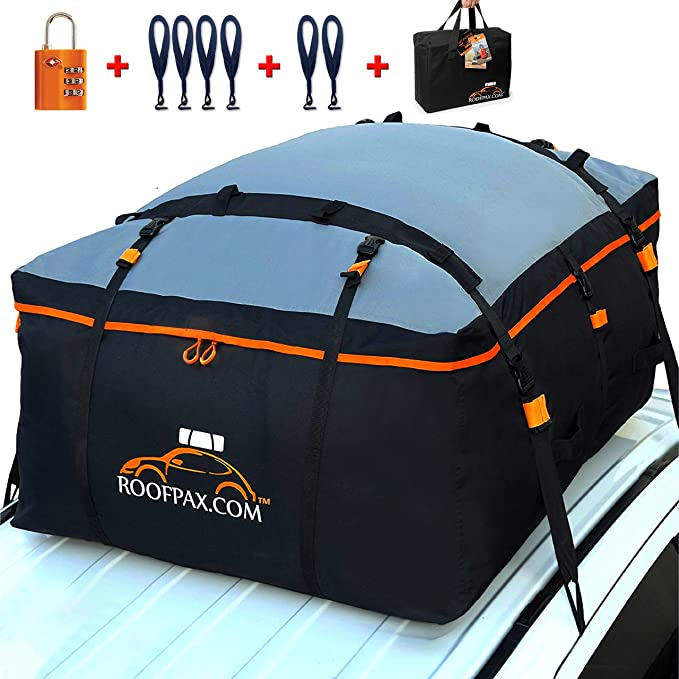 RoofPax Car Roof Bag & Rooftop Cargo Carrier. 19 Cubic Feet