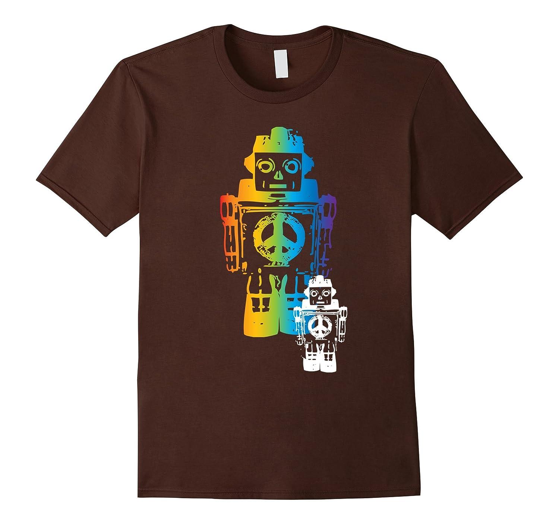 Retro Peace Robots Fashion Urban All-Ages T-Shirt-TH