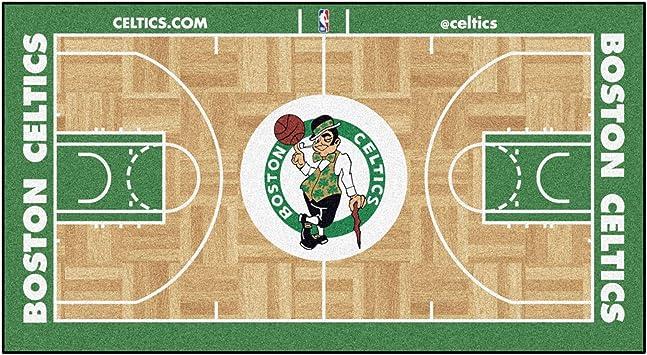 Amazon Com Fanmats 9480 Nba Boston Celtics Nylon Face Nba Court Runner Small Team Color 24x44 Automotive