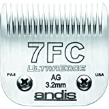 Andis Carbon-Infused Steel UltraEdge Dog Clipper Blade, Size-7FC, 1/8-Inch Cut Length (64121)