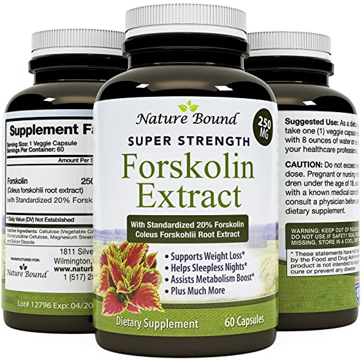 Forskolin Weight Loss Supplement for Men and Women, Burns Body Fat and Boosts Metabolism with Natural Pure Coleus Forskohlii Extract a Standardized 20% Forskolin 60 Capsules by Biofusion
