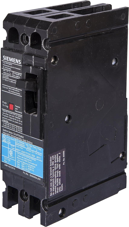 80 Amp Type ED2 2 Pole Siemens ED22B080 Circuit Breaker