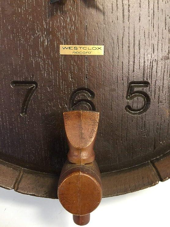 Amazon.com : Westclox Nocord Vintage Barrel Spout Spigot Design Wall Clock Model 46621 : Everything Else