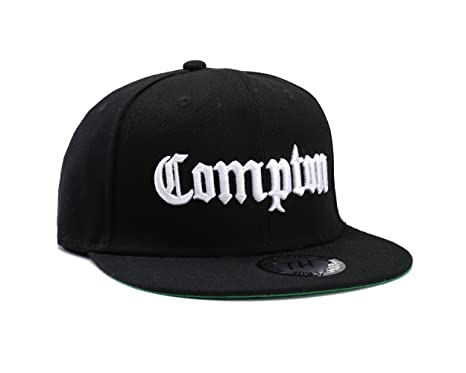 c3d7b0892e6 Straight outta Compton Flat Peak Snapback Fitted Baseball Cap Black ...