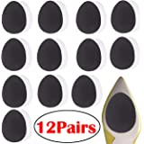 12 Pairs Self-Adhesive Non-Skid Shoe Pads Anti Slip Shoe Grips for Shoes, Anti-Shedding Skid Proof Rubber Sole Protectors