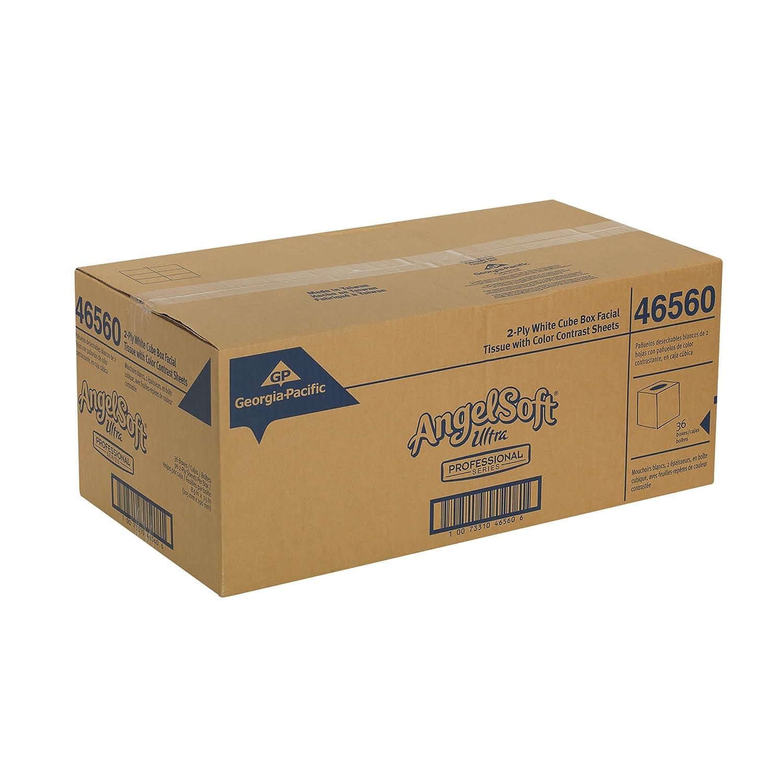 48560 125 Sheets Per Box 30 Boxes Per Case Flat Box Georgia-Pacific Angel Soft Ultra Professional Series Premium 2-Ply Facial Tissue by GP PRO