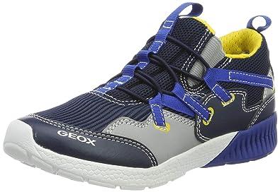 Geox J Kommodor C, Zapatillas Altas Para Niños, Azul, 31 EU