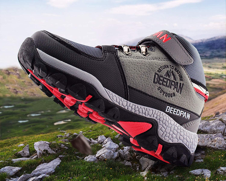 JABASIC Kids Hiking Shoes Anti-Slip Trail Trekking Outdoor Adventure Boots