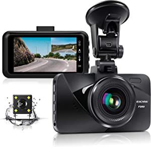 """Dual Dash Cam Car Dashboard Camera Recorder FHD 1080P Front and Rear Cameras for Cars,Driving Loop Recording,3.0"""" IPS Screen 170°Wide Angle, G-Sensor, Night Vision, Motion Detection"""