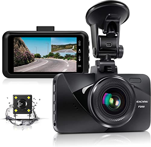Dual Dash Cam Car Dashboard Camera Recorder FHD 1080P Front and Rear Cameras for Cars,Driving Loop Recording,3.0 IPS Screen 170 Wide Angle, G-Sensor, Night Vision, Motion Detection