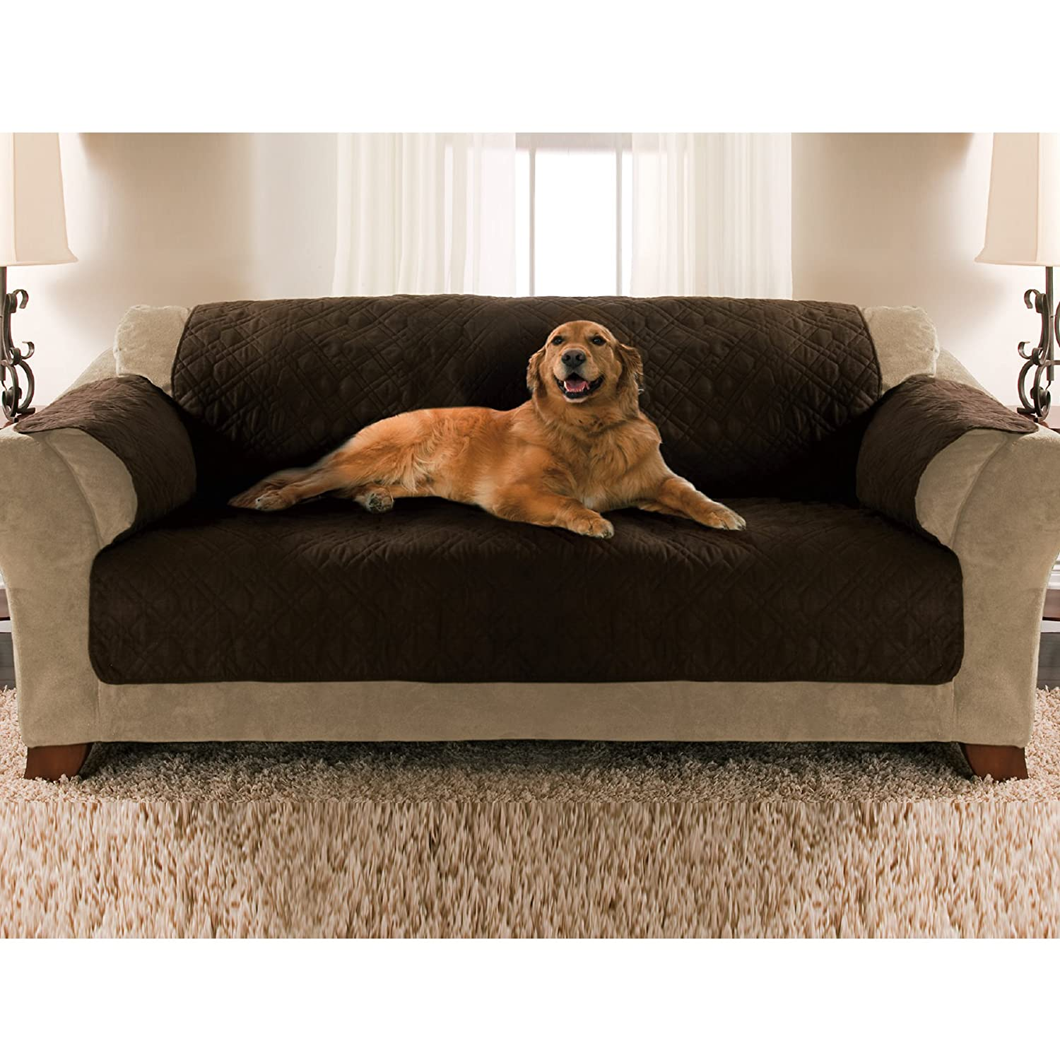 Amazon Yes Pets Sofa Size Quilted Micro Suede Furniture