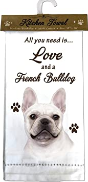 French Bulldog  Dog Kitchen Towels Your Sweetness Is My Weakness 2 Nwt