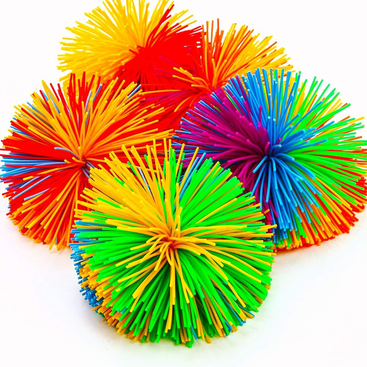 -Sensory Toys//Stress Toys//Sensory Balls for Kids Adult Pack of 5 Monkey Stringy Balls
