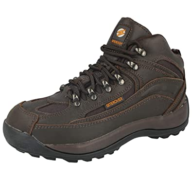 Mens Cheap Steel Toe Safety Work Boots Leather Working Boot Size 5 6 7 2aff739b3