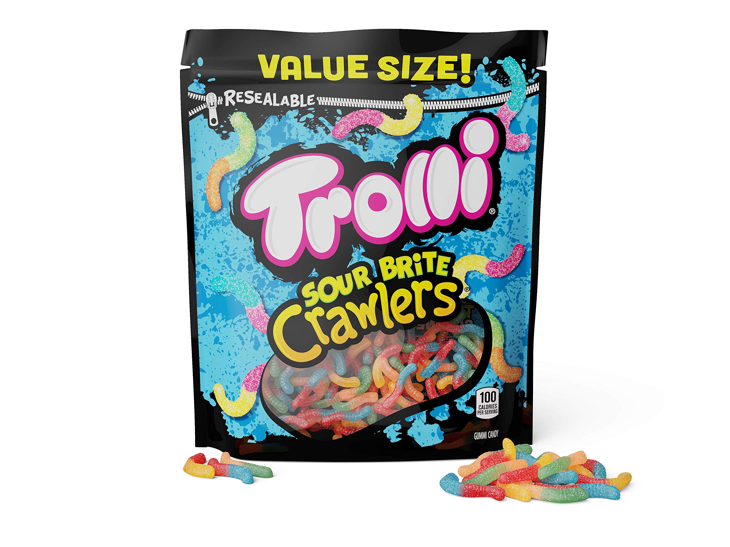 Trolli Sour Brite Crawlers Gummy Worms, 28 Ounce Bag Sour Gummy Worms by Trolli (Image #3)