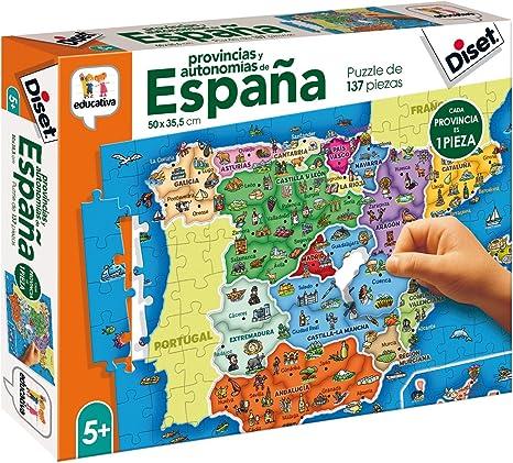 Diset- Puzzle Provincias-Autonomías137p Juguete educativos ...