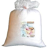 AMF s_03 Kissenfüllung, Oeko Tex Standard 100, 1 kg, heller Füllstoff, waschbar bis 95 Grad