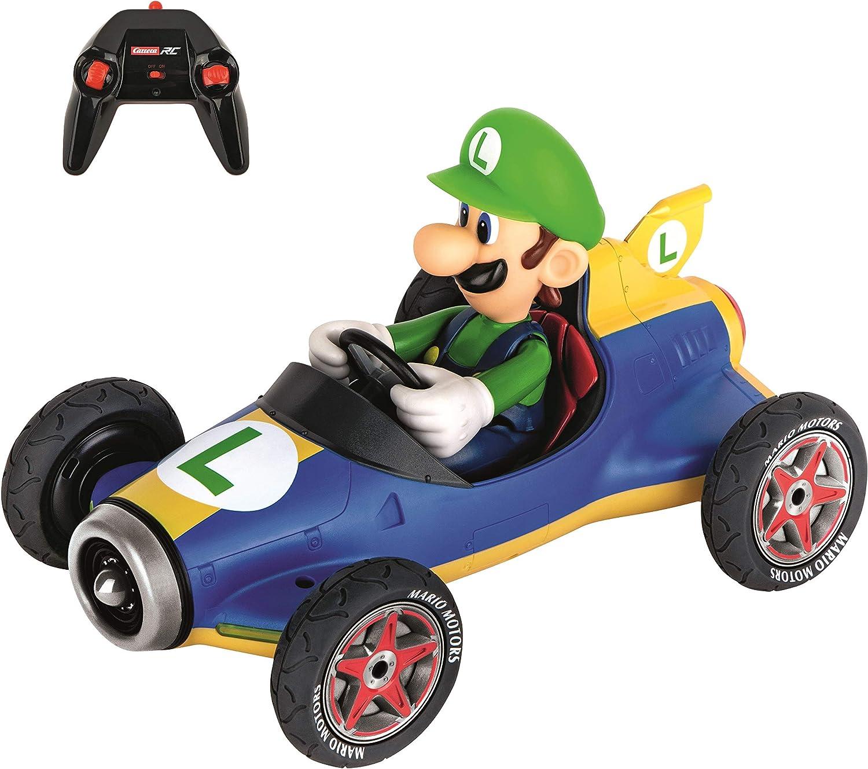 Carrera- 2,4GHz Mario Kart Mach 8, Luigi Coche de Juquete con Control Remoto, Multicolor (Stadlbauer 370181067)