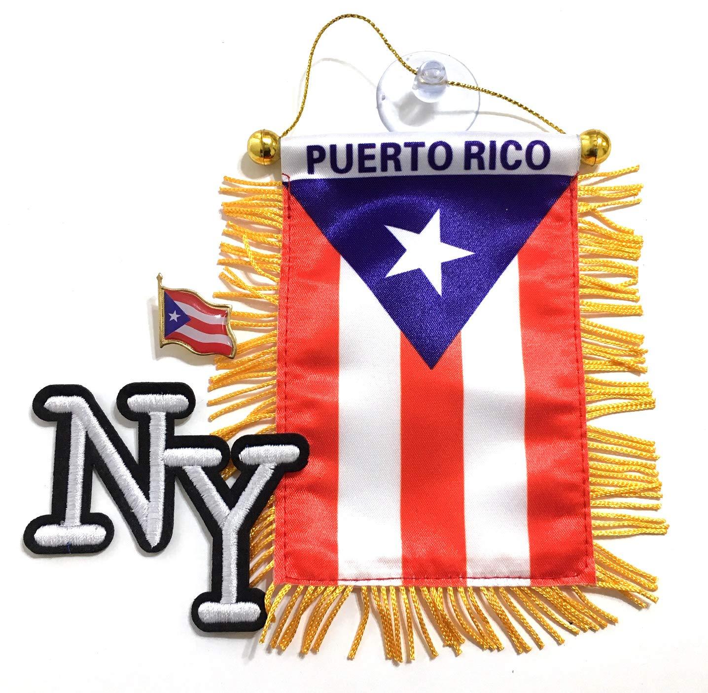 Amazon.com: Puerto Rico La bandera de puertorriqueño pequeño puertorriqueño para su automóvil auto uso SUV en espejo retrovisor: Car Electronics
