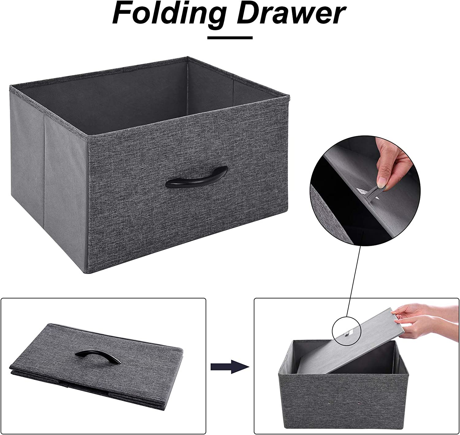 4 Drawers Fabric Organizer Unit for Bedroom Closets Laundry Room Hallway Entryway Houssem Storage Tower
