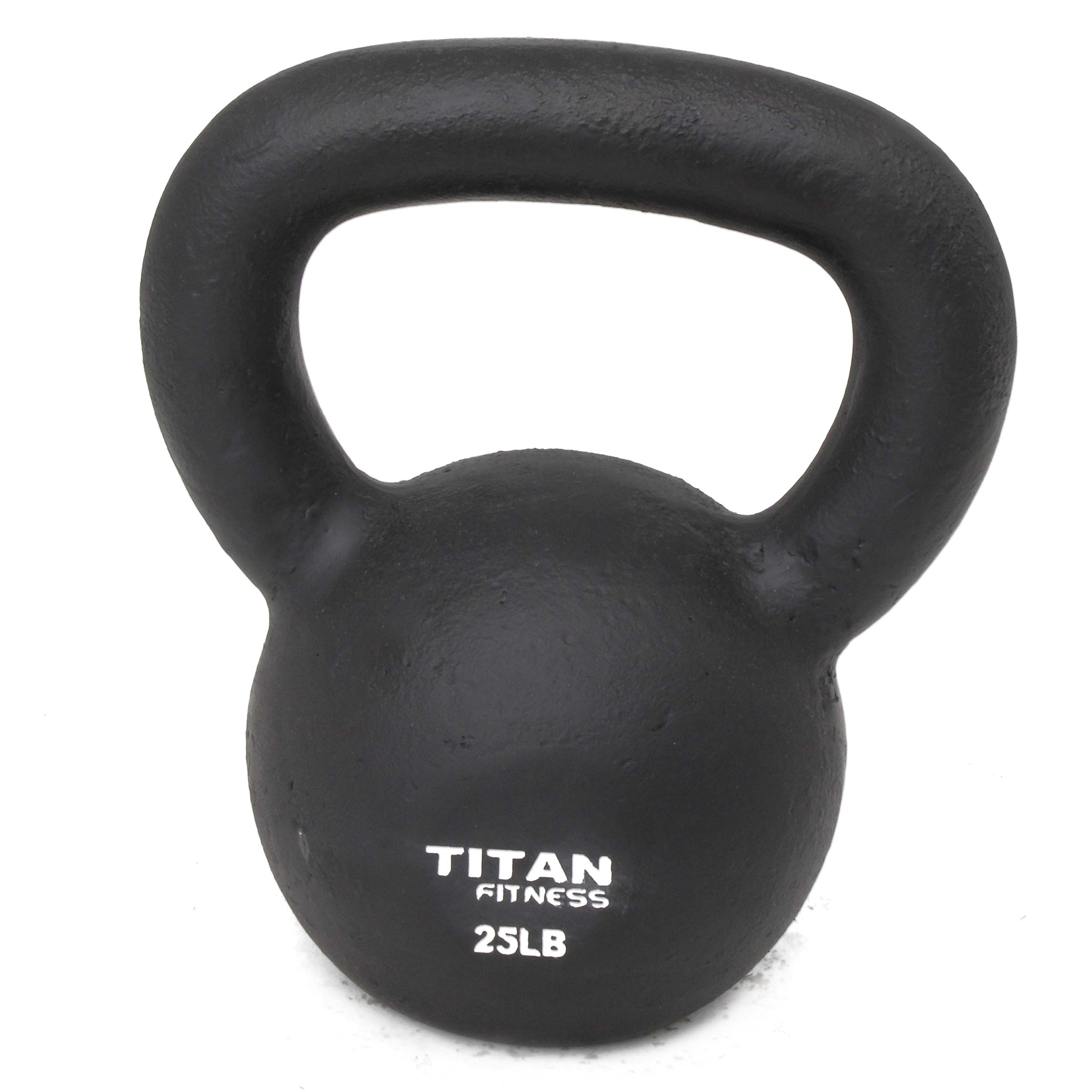 Titan Fitness Cast Iron Kettlebell Weight 25 Lbs Natural Solid Workout Swing by Titan Fitness