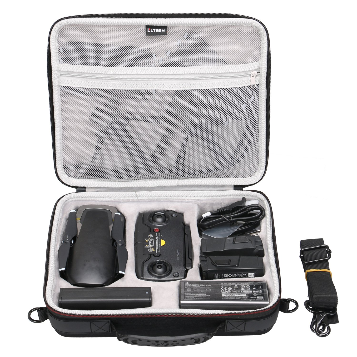 LTGEM EVA Hard Case for DJI Mavic Air Drone - Fits Drone, Batteries, Controller, Charger and Accessories CS228