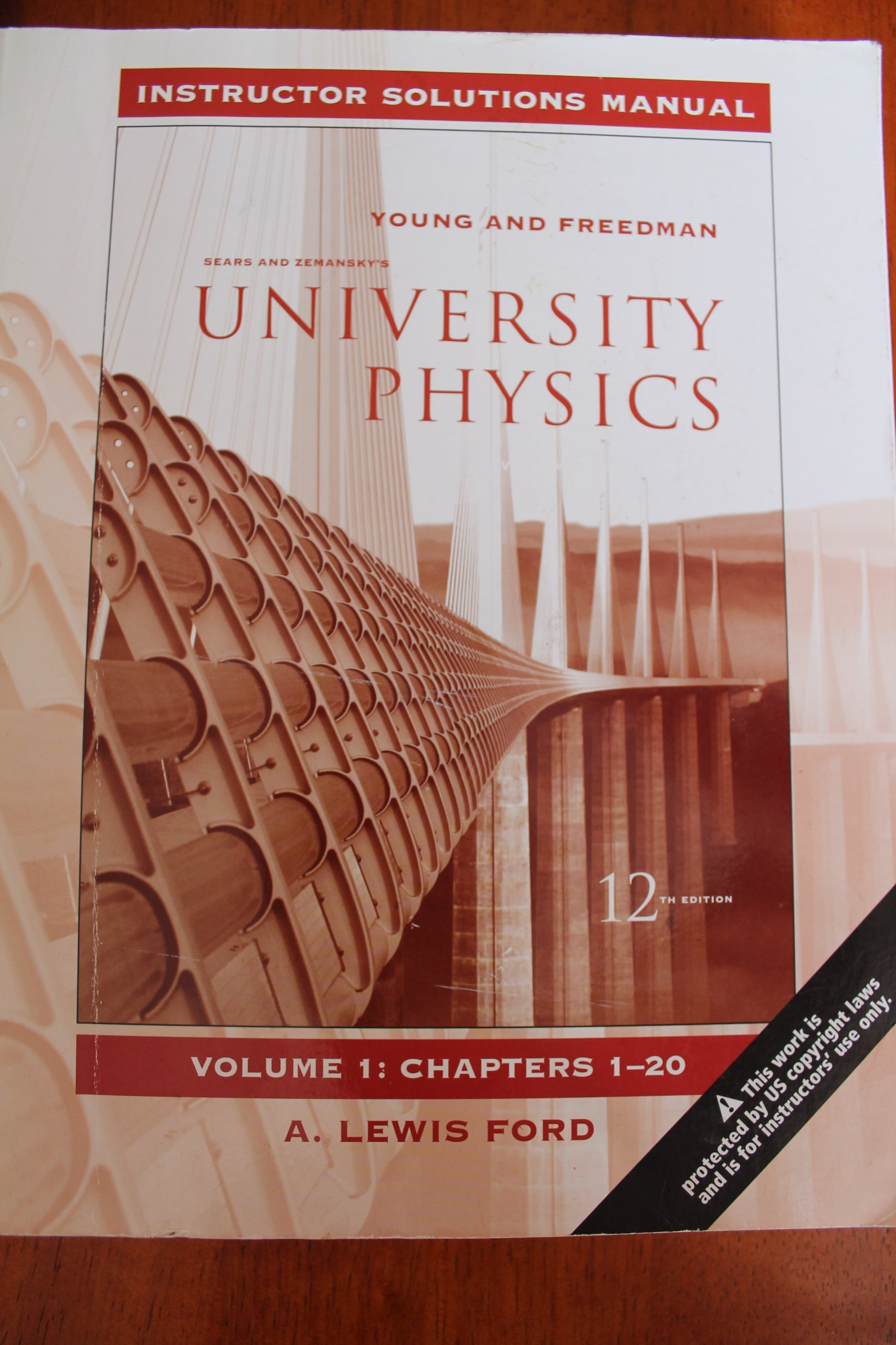University Physics Instructor Solutions Manual Vol. 1, Chapters 1-20 (1):  A. Lewis Ford, Sears & Zemansky, Young & Freedman: 9780321499684:  Amazon.com: ...