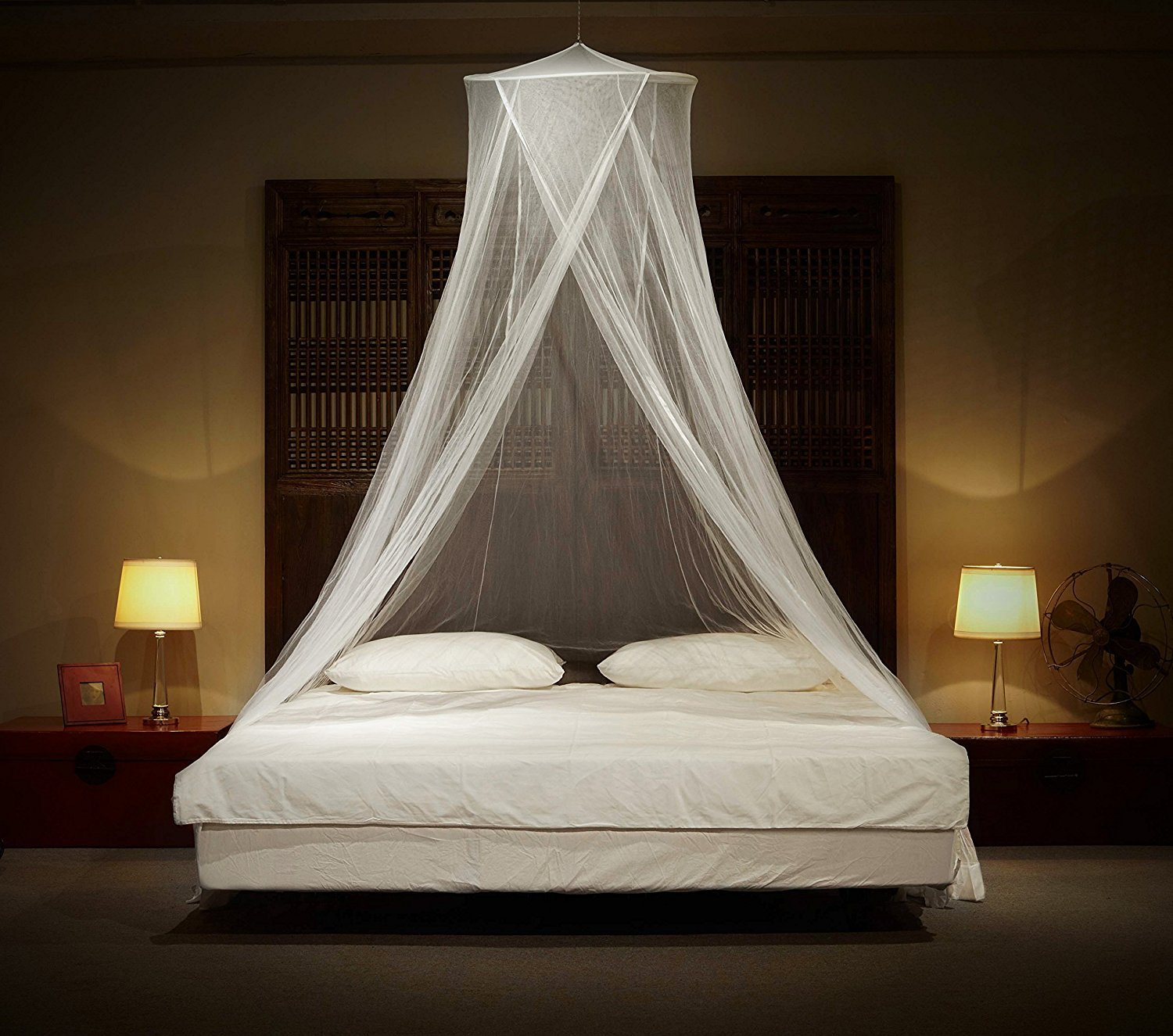 Kyerivs Mosquito Nets - King Size Premium Mosquito Net Canopy for Home or Travel, Includes Hanging Kit, Travel Bag, and No Harmful Chemicals. Fits All Beds Up To King Size.