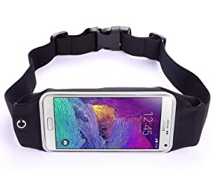 Lstech faktom LS Running & Fitness Waist Pack for iPhone 6S/7 Plus, Samsung Galaxy S7/S6/ Edge, LG G5 & More (Black)