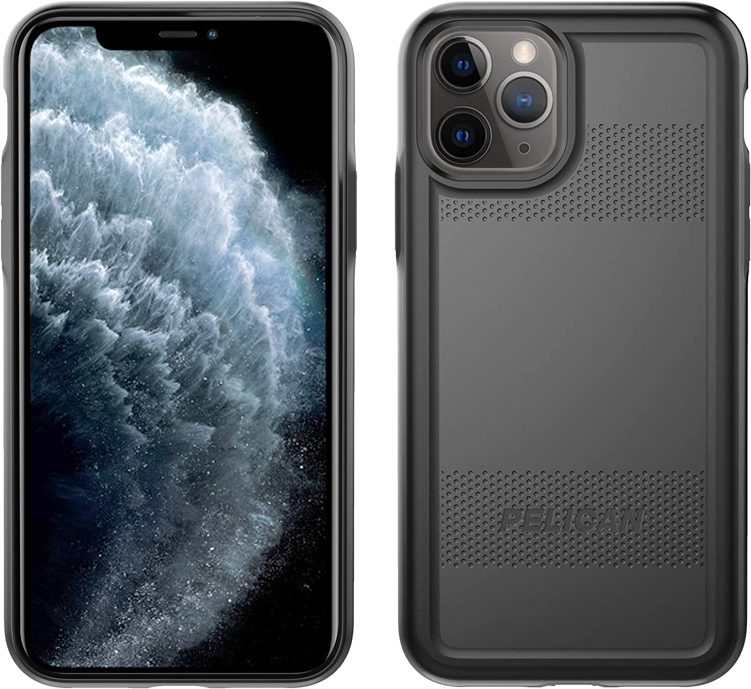 Pelican iPhone 11 Pro Case, Protector Series – Military Grade Drop Tested, TPU, Polycarbonate Protective Case for Apple iPhone 11 Pro (Black)