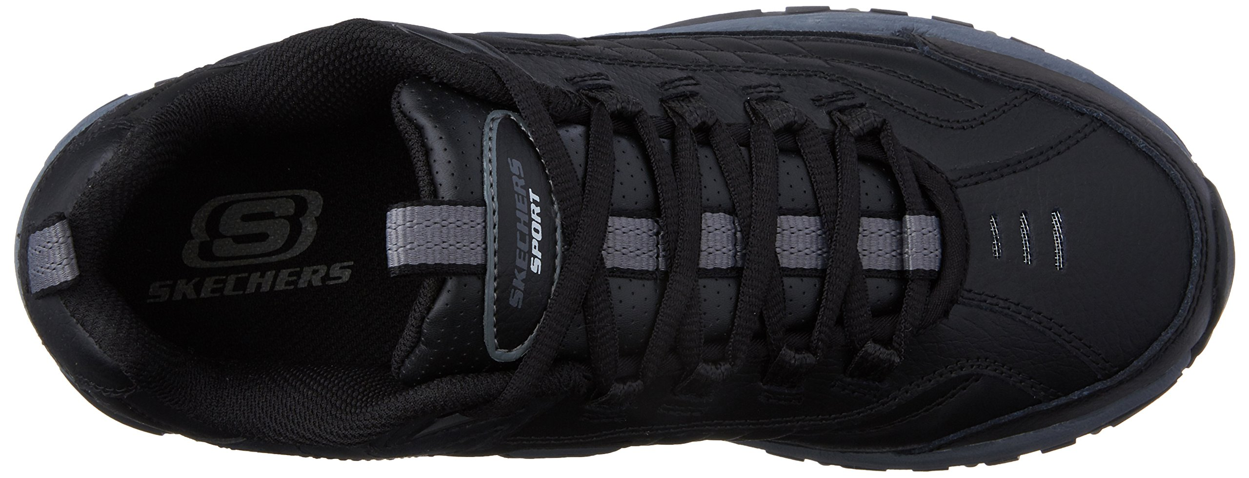 Skechers Men's Energy Afterburn Lace-Up Sneaker,Black/Gray,14 M US by Skechers (Image #8)