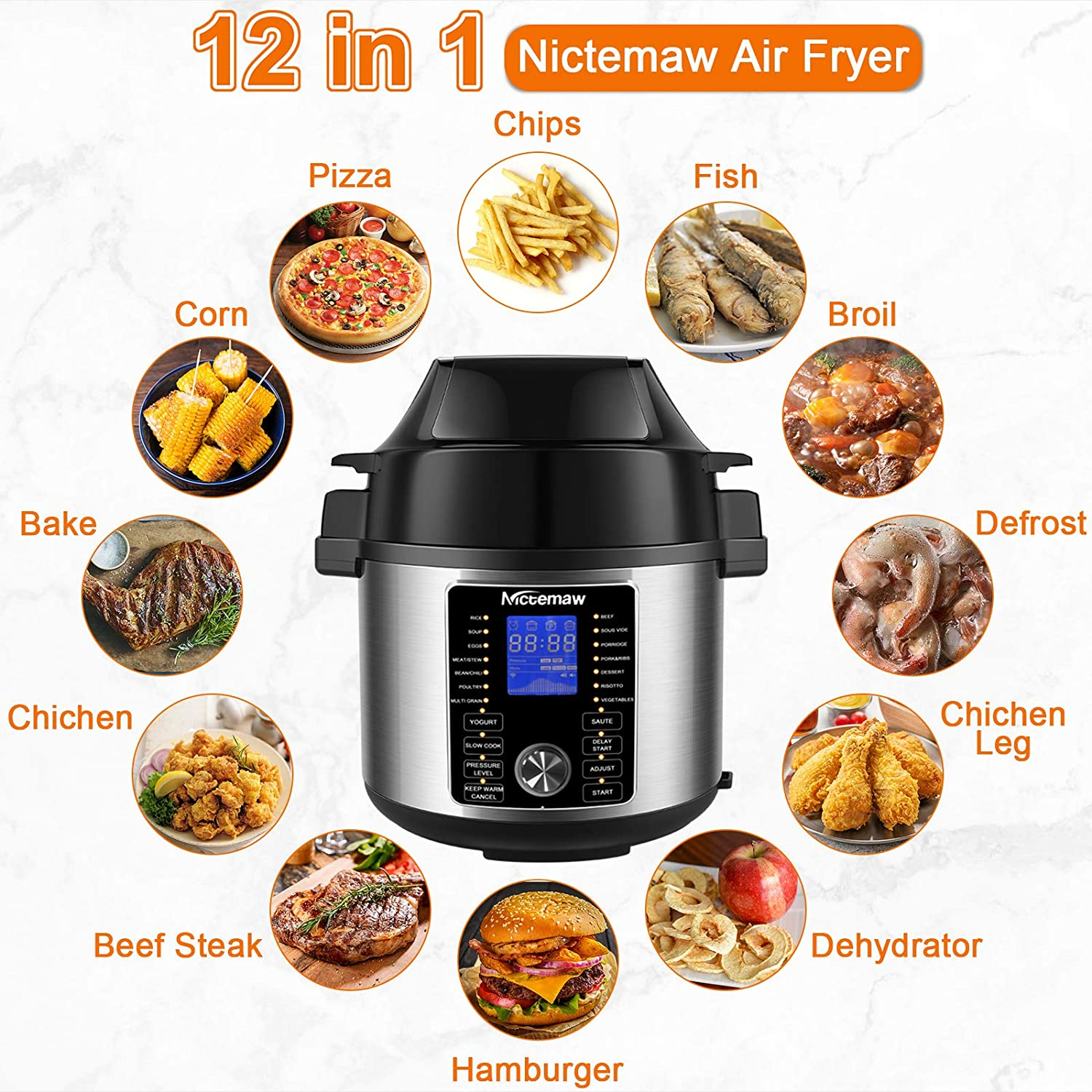 Kitchen & Dining Nictemaw17-in-1 Electric Pressure Cooker Multi ...