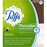 Puffs Plus Lotion Facial Tissues (4 Cubes, 56 per Box)