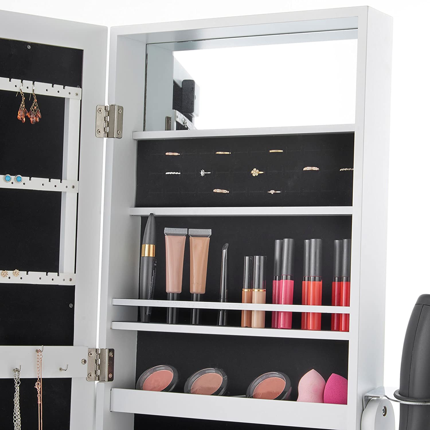 Jewellery Cabinet Uk Beautify Floor Standing Make Up And Jewellery Organiser Cabinet