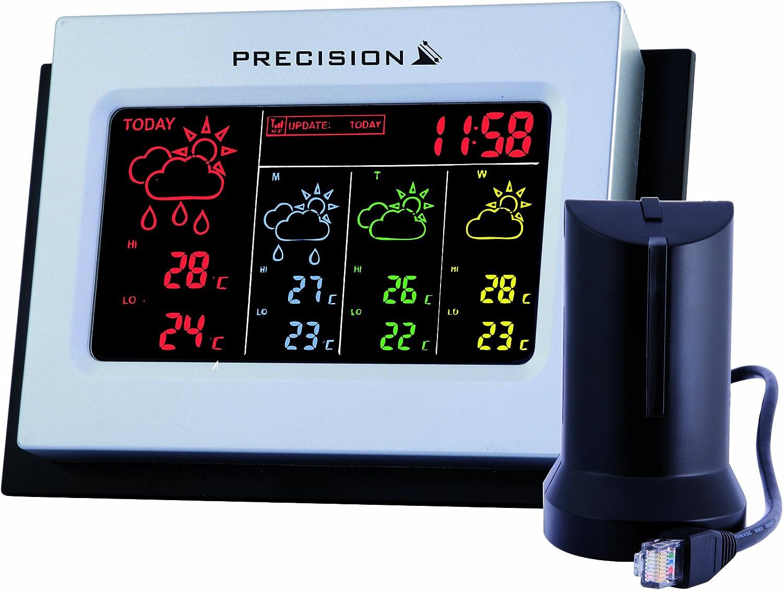 PRECISION AP038 4 DAY WIRELESS DIGITAL LED WEATHER FORECASTING UNIT ALARM CLOCK
