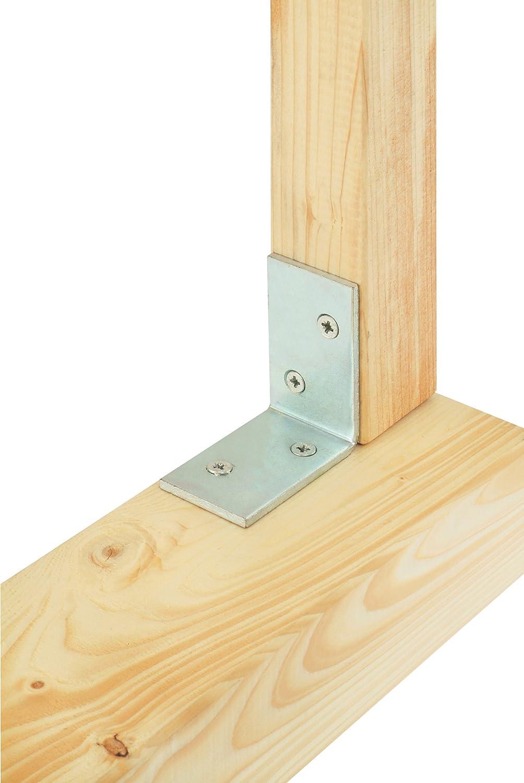 Suki 3203887 - Soporte de montaje Pergola 70 x 70 x 40 mm, 4 mm de espesor de acero de zinc amarillo: Amazon.es: Bricolaje y herramientas