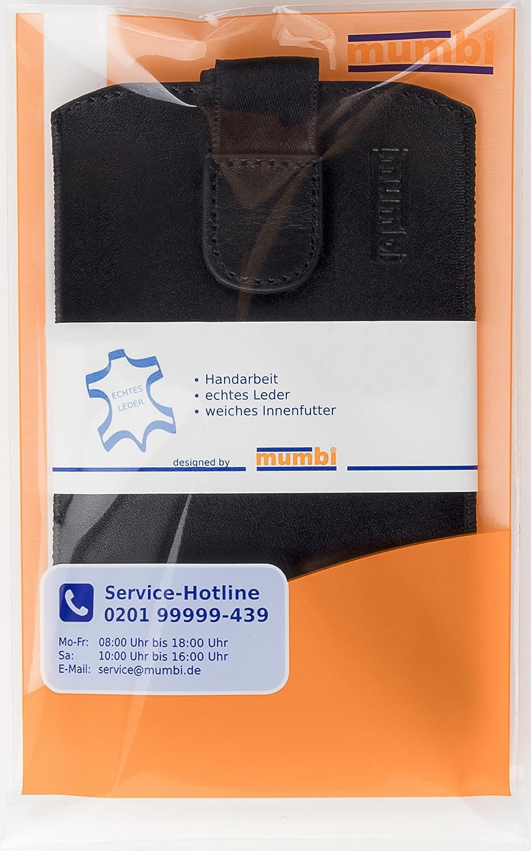 mumbi Bolso de cuero real compatible con Huawei P30 Pro, negro Pesta/ña con funci/ón de retracci/ón, auxiliar de extracci/ón