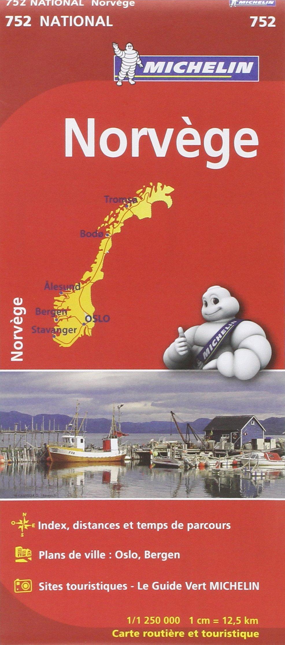 Carte Norvège Michelin