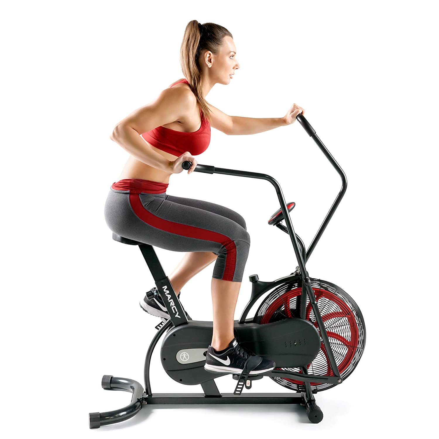fan exercise bike. buy marcy fan exercise bike with air resistance system - red and black ns-1000 online at low prices in india amazon.in n