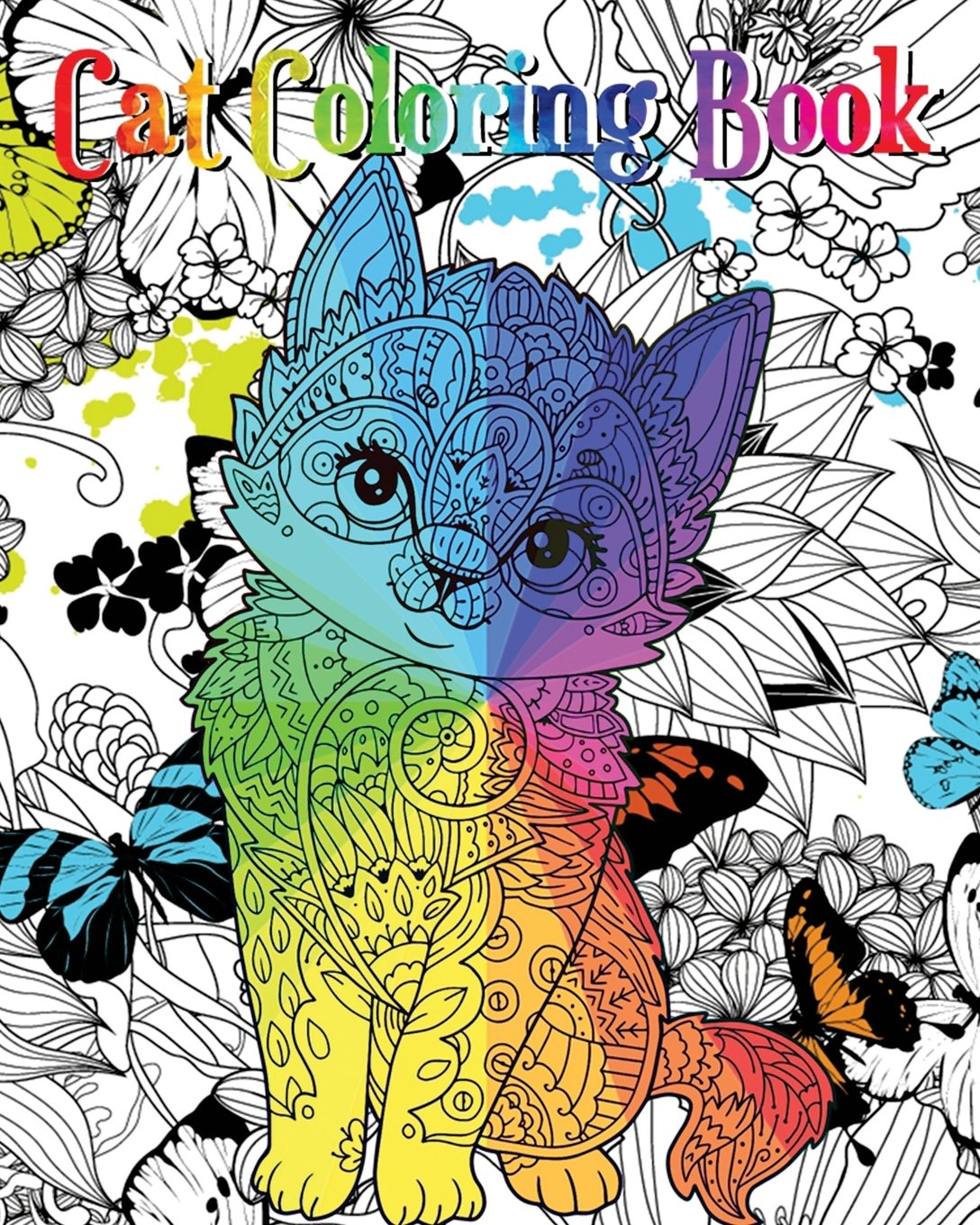 Cat Coloring Book An Adult Coloring Book With Fun Easy And Relaxing Coloring Pages Coloring Books For Cat Lover Rainnie Perosa 9781718895188 Amazon Com Books