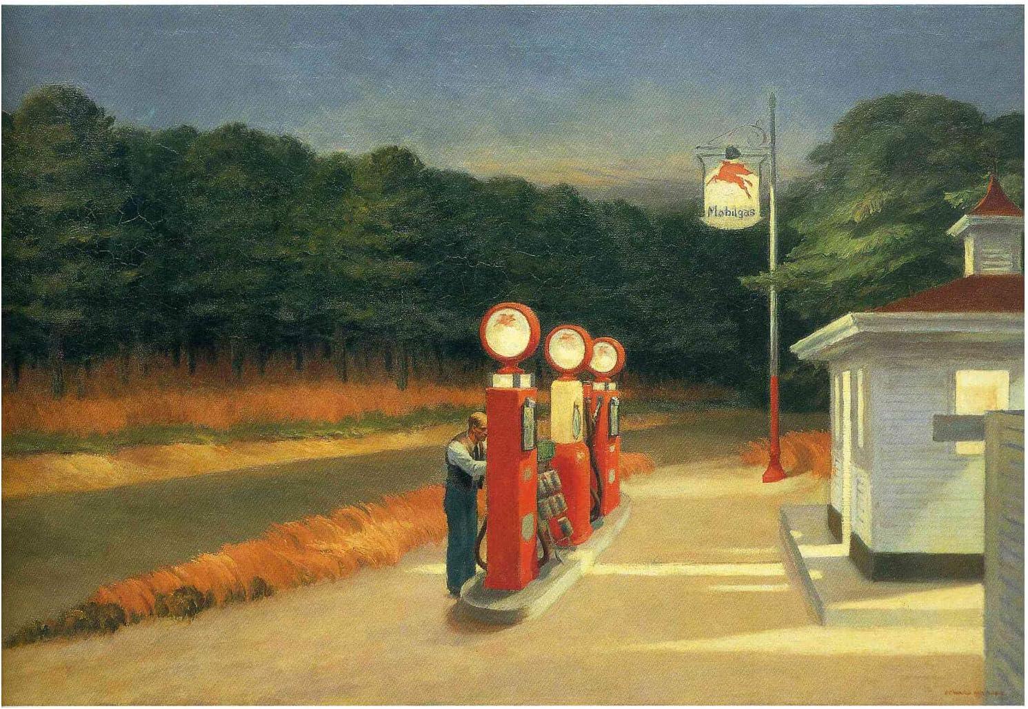 Spiffing Prints Edward Hopper - Gas - Medium - Matte - Unframed