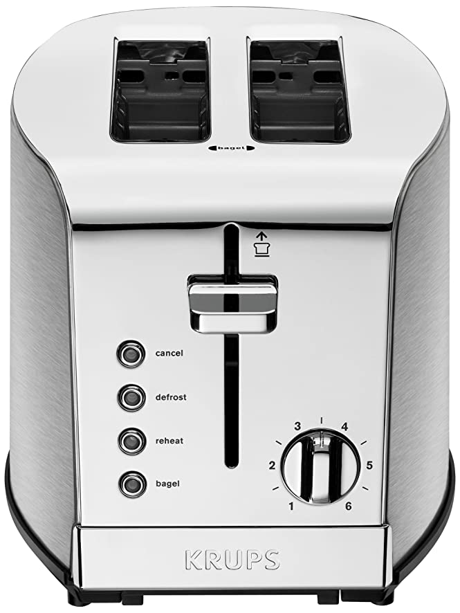 Amazon.com: KRUPS KH732D Breakfast Set 2-Slot Toaster with Brushed ...
