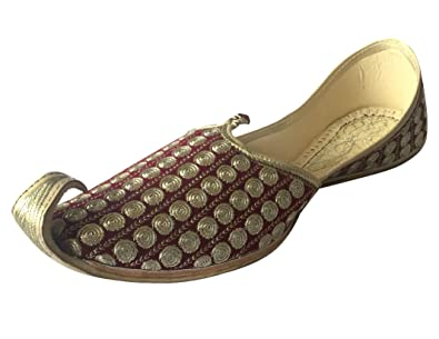 ce974a02b Image Unavailable. Image not available for. Color  Step n Style Men s  Khussa Shoes Punjabi Jutti Rajasthani Mojari ...