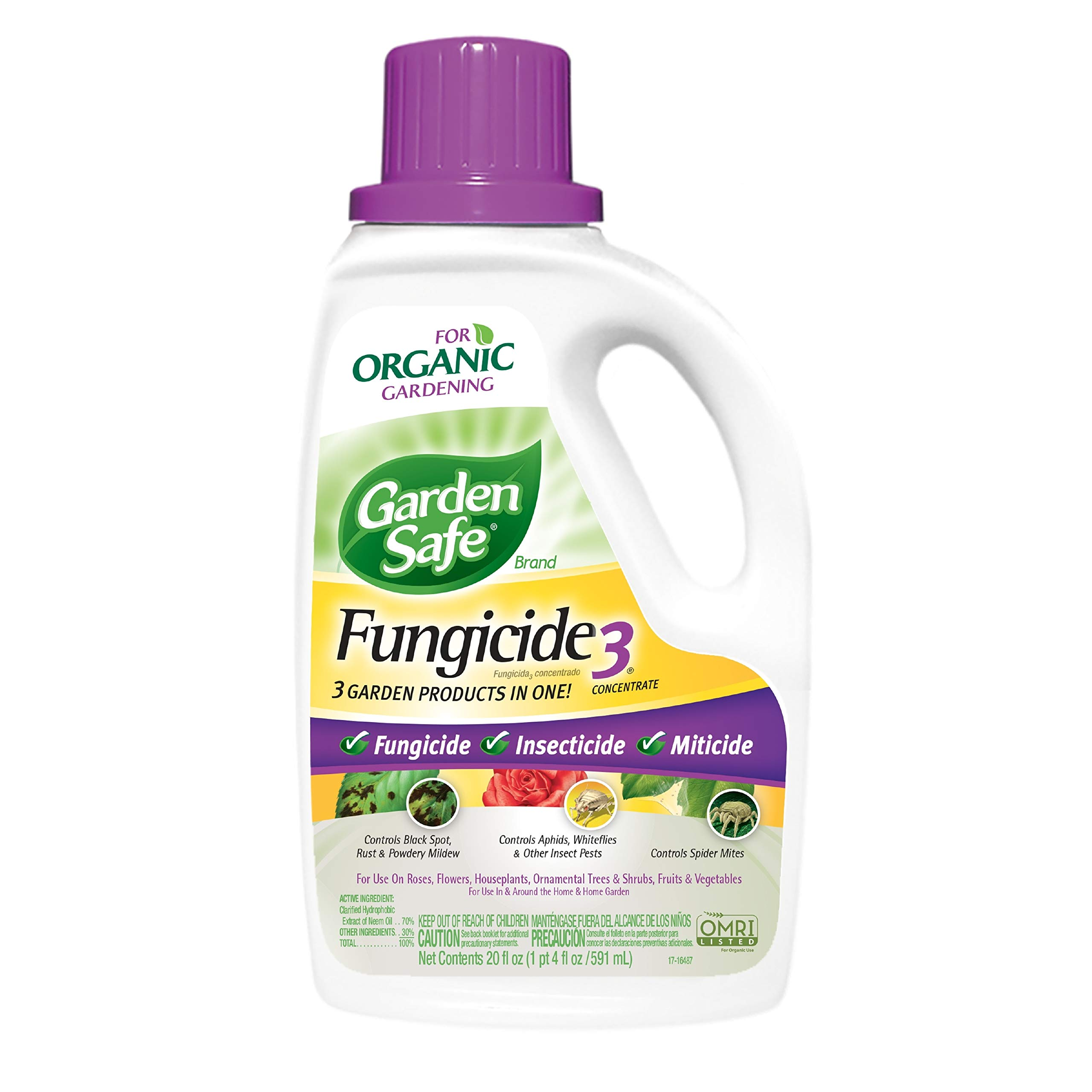 Garden Safe Brand Fungicide3 Concentrate, 20-Ounce, 6-pack by Garden Safe