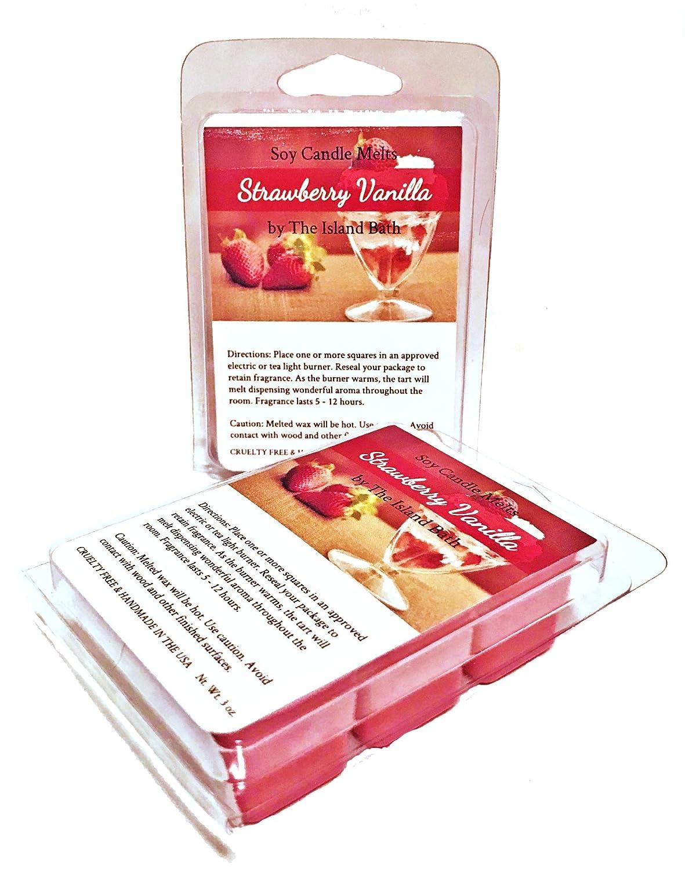 Strawberry Vanilla香りつきワックスキューブ/ Melts - 3 G – ハンド自然大豆。Perfect for Everyday – 米国でハンドメイド B07B38Q9F4