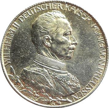Silber Münze Dt 2 Mark 1913 A Regierungsjubiläum Wilhelm Ii