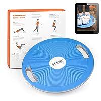 Joyletics® Balanceboard Therapiekreisel + e-Book Balancetraining   Balance Board zur Verbesserung von Kraft, Gleichgewicht und Körper-Koordination   Durchmesser 40 cm in Blau