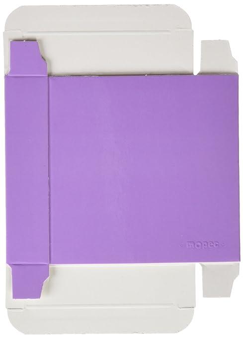 Mopec Caja Cuadrada de Charol Lila, Pack de 25 Unidades ...